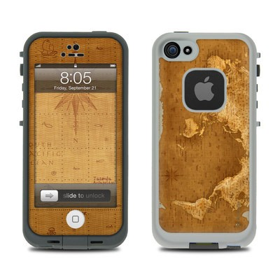 Lifeproof iPhone 5 Case Skin - Upside Down Map