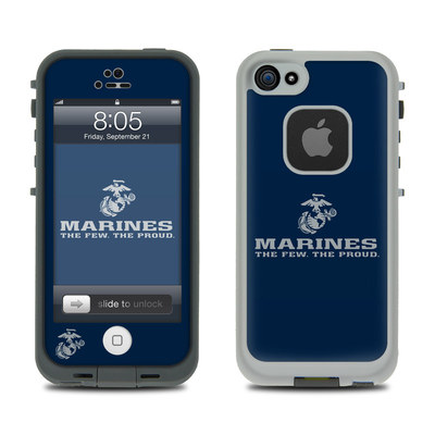 Lifeproof iPhone 5 Case Skin - USMC Blue