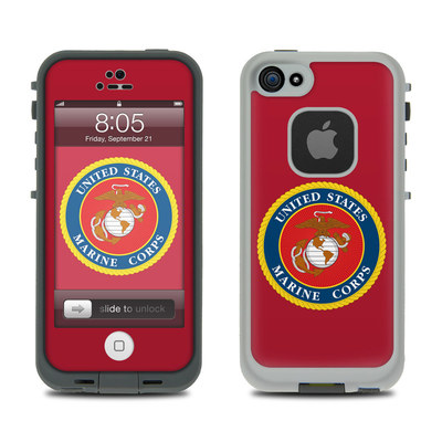 Lifeproof iPhone 5 Case Skin - USMC Red