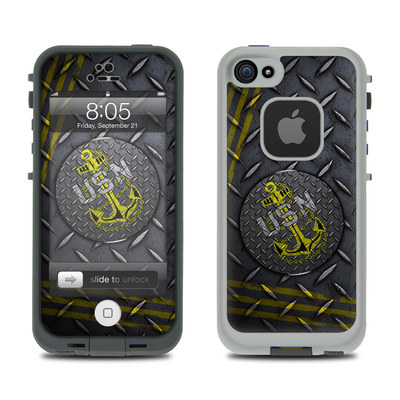 Lifeproof iPhone 5 Case Skin - USN Diamond Plate