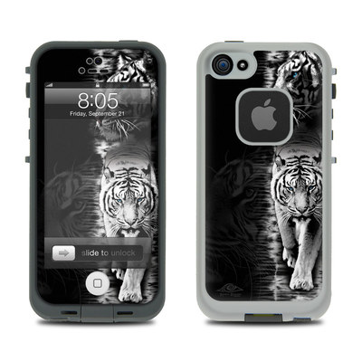Lifeproof iPhone 5 Case Skin - White Tiger
