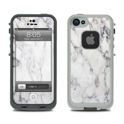 Lifeproof iPhone 5 Case Skin - White Marble