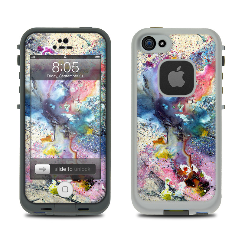 Lifeproof iphone 5 case skin cosmic flower
