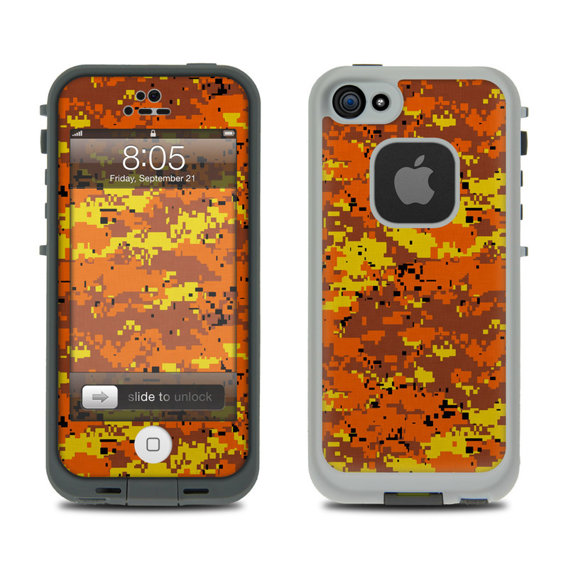 promo code 58b98 fad47 Lifeproof iPhone 5 Case Skin - Digital Orange Camo