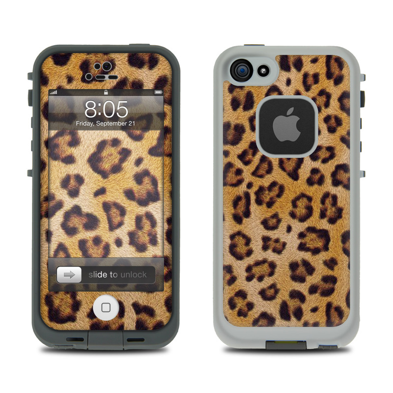 Lifeproof iphone 5 case skin leopard spots