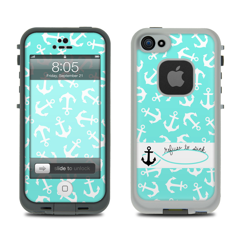 Skin refuse to sink by brooke boothe iphone 5c lifeproof case