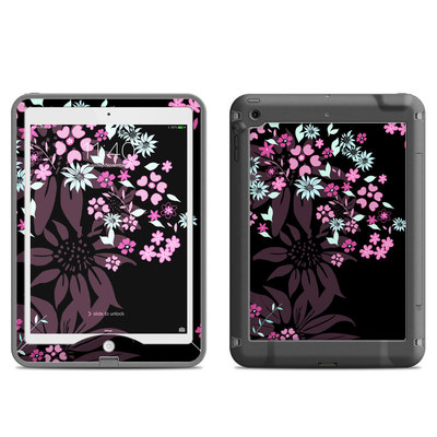 Lifeproof iPad Air Nuud Case Skin - Dark Flowers