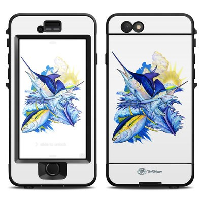 Lifeproof iPhone 6 Nuud Case Skin - Blue White and Yellow