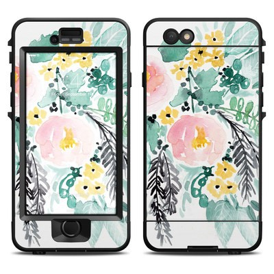 Lifeproof iPhone 6 Nuud Case Skin - Blushed Flowers