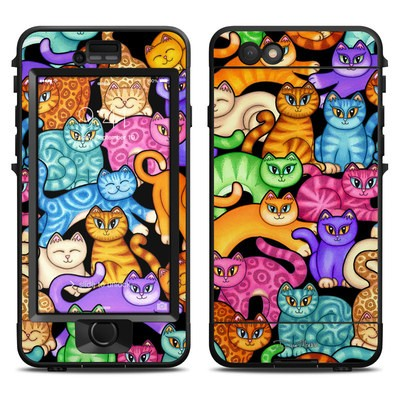 Lifeproof iPhone 6 Nuud Case Skin - Colorful Kittens
