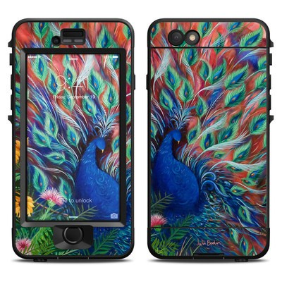 Lifeproof iPhone 6 Nuud Case Skin - Coral Peacock