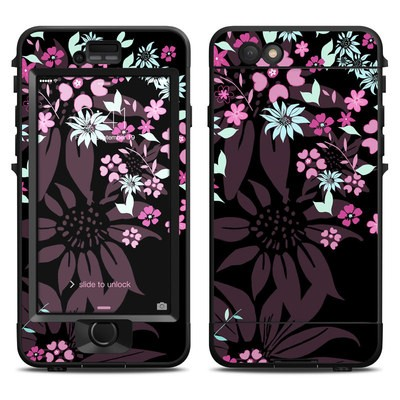 Lifeproof iPhone 6 Nuud Case Skin - Dark Flowers