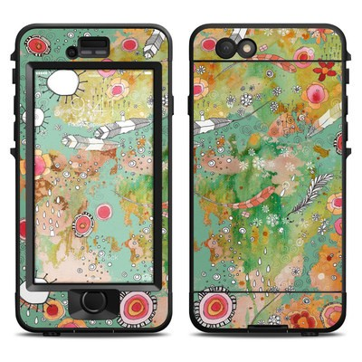 Lifeproof iPhone 6 Nuud Case Skin - Feathers Flowers Showers