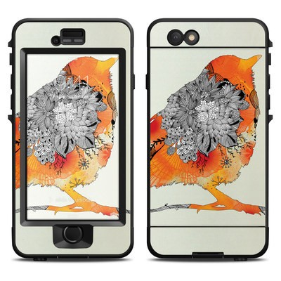 Lifeproof iPhone 6 Nuud Case Skin - Orange Bird