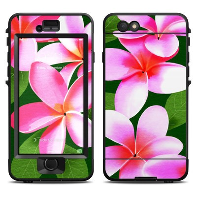 Lifeproof iPhone 6 Nuud Case Skin - Pink Plumerias