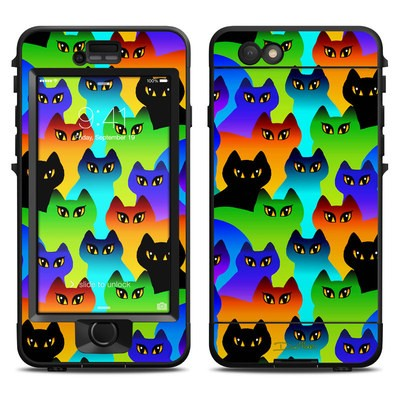 Lifeproof iPhone 6 Nuud Case Skin - Rainbow Cats