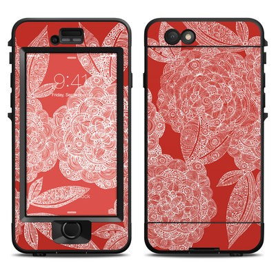 Lifeproof iPhone 6 Nuud Case Skin - Red Dahlias