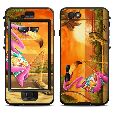 Lifeproof iPhone 6 Nuud Case Skin - Sunset Flamingo