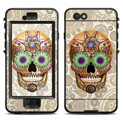Lifeproof iPhone 6 Nuud Case Skin - Sugar Skull Bone