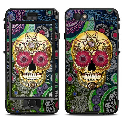 Lifeproof iPhone 6 Nuud Case Skin - Sugar Skull Paisley