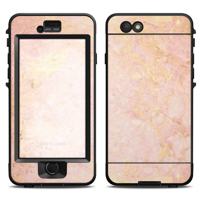 Lifeproof iPhone 6 Nuud Case Skin - Rose Gold Marble by Marble ... 10a36865bee1