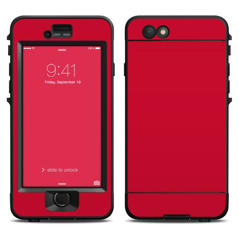 reputable site 3c6cb e21e0 Lifeproof iPhone 6 Nuud Case Skin - Solid State Red