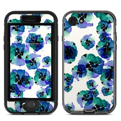 Lifeproof iPhone 7 Nuud Case Skin - Blue Eye Flowers