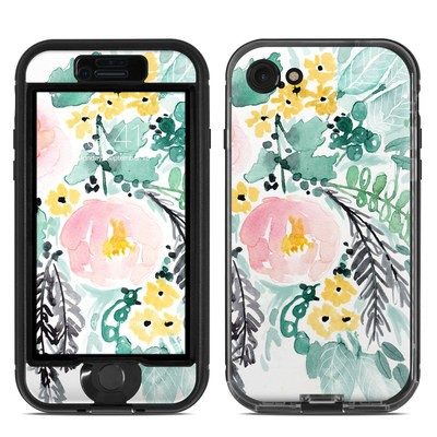 Lifeproof iPhone 7 Nuud Case Skin - Blushed Flowers
