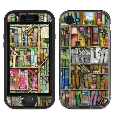 Lifeproof iPhone 7 Nuud Case Skin - Bookshelf