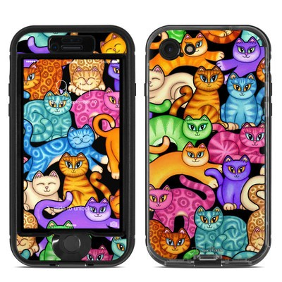 Lifeproof iPhone 7 Nuud Case Skin - Colorful Kittens