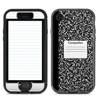 Lifeproof iPhone 7 Nuud Case Skin - Composition Notebook
