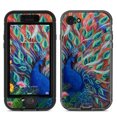 Lifeproof iPhone 7 Nuud Case Skin - Coral Peacock