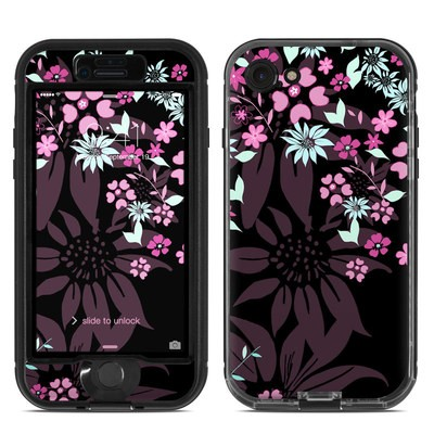 Lifeproof iPhone 7 Nuud Case Skin - Dark Flowers