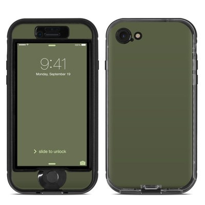 Lifeproof iPhone 7 Nuud Case Skin - Solid State Olive Drab