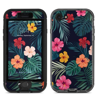 Lifeproof iPhone 7 Nuud Case Skin - Tropical Hibiscus