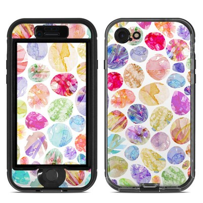 Lifeproof iPhone 7 Nuud Case Skin - Watercolor Dots