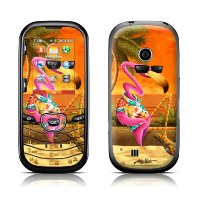 LG Cosmos 2 Skin - Sunset Flamingo