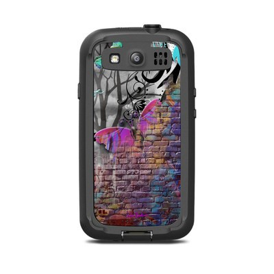 Lifeproof Galaxy S3 Nuud Case Skin - Butterfly Wall