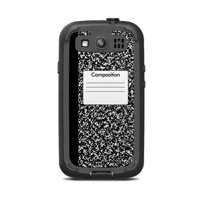 Lifeproof Galaxy S3 Nuud Case Skin - Composition Notebook