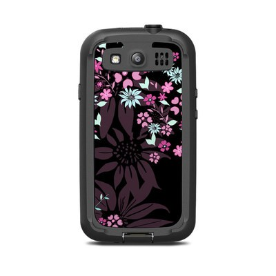 Lifeproof Galaxy S3 Nuud Case Skin - Dark Flowers