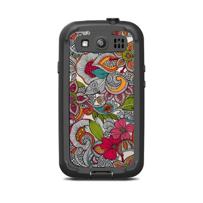 Lifeproof Galaxy S3 Nuud Case Skin - Doodles Color