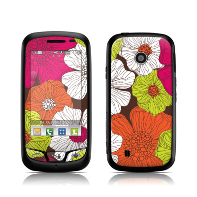 LG Cosmos Touch Skin - Brown Flowers
