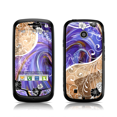 LG Cosmos Touch Skin - Purple Waves