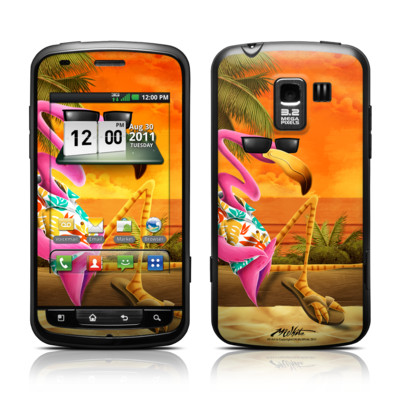 LG Enlighten Skin - Sunset Flamingo