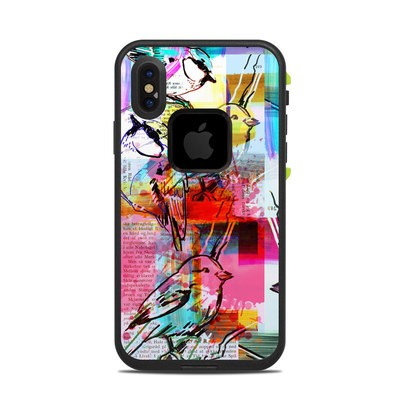 Lifeproof iPhone X Fre Case Skin - Book Birds