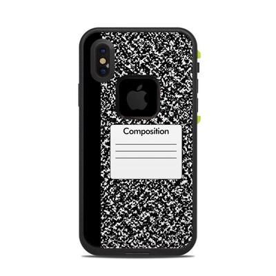 Lifeproof iPhone X Fre Case Skin - Composition Notebook