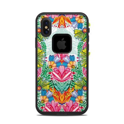 Lifeproof iPhone X Fre Case Skin - Jungle Flowers