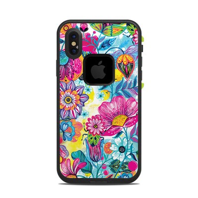 Lifeproof iPhone X Fre Case Skin - Natural Garden