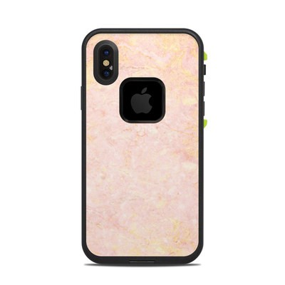 Lifeproof iPhone X Fre Case Skin - Rose Gold Marble
