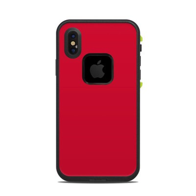 Lifeproof iPhone X Fre Case Skin - Solid State Red